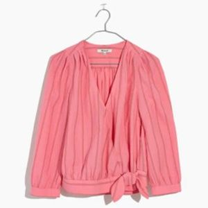 "Madewell || Wrap Top in ""Cecilia Stripe"" 